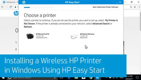 Installing a Wireless HP Printer in Windows Using HP Easy Start