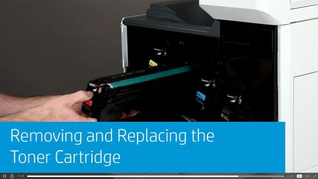 Removing and Replacing the Toner Cartridge HP Color LaserJet Enterprise M652, M653, and MFP M682, M683 Series
