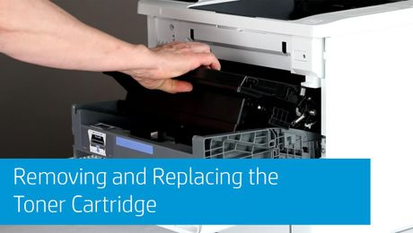 Removing and Replacing the Toner Cartridge HP LaserJet Enterprise M607, M608, M609 Series