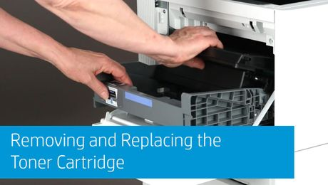 Removing and Replacing the Toner Cartridge HP LaserJet Enterprise MFP M631,  M632, M633 Series