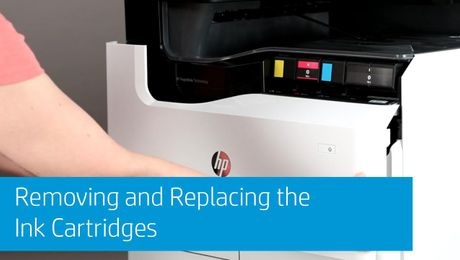 Removing and Replacing the Ink Cartridges HP PageWide Enterprise MFP 780/785 and HP PageWide Enterprise 765 Series