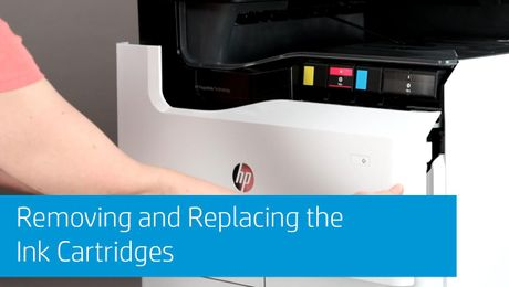 Removing and Replacing the Ink Cartridges HP PageWide Pro 750/755 and HP PageWide Pro MFP 772/775 Series