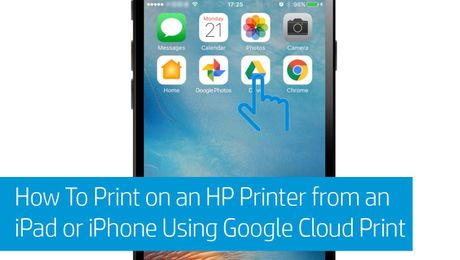How To Print on an HP Printer from an iPad or iPhone Using Google Cloud Print