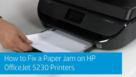 How to Fix a Paper Jam on HP OfficeJet 5230 Printers