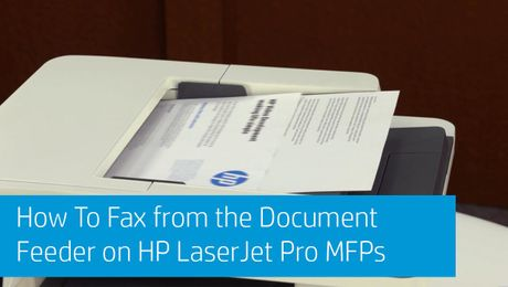 How To Fax from the Document Feeder on HP LaserJet Pro MFPs