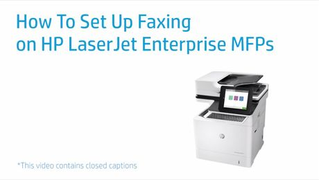 How To Set Up Faxing on HP LaserJet Enterprise MFPs
