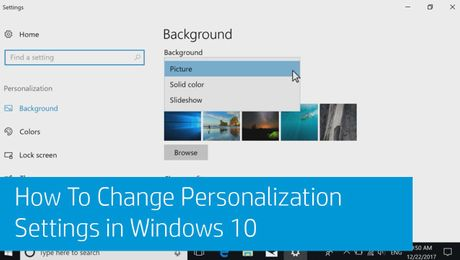 How To Change Personalization Settings in Windows 10