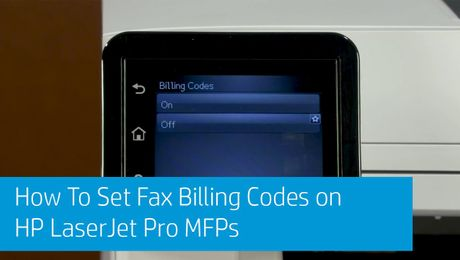 How To Set Fax Billing Codes on HP LaserJet Pro MFPs