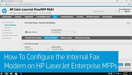 How To Configure the Internal Fax Modem on HP LaserJet Enterprise MFPs