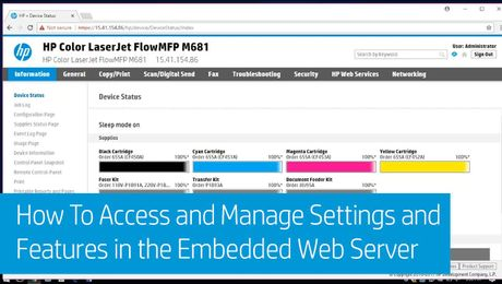 How To Access and Manage Settings and Features in the Embedded Web Server on HP Enterprise MFPs