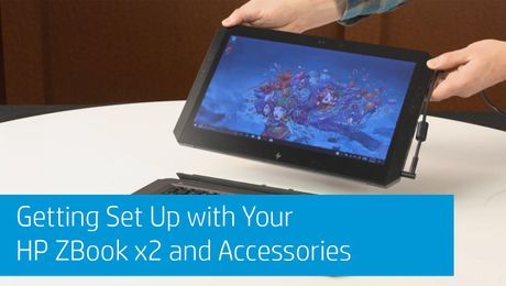 Getting Set Up with Your HP ZBook x2 and Accessories