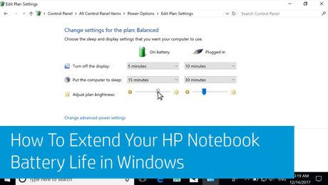 How To Extend Your HP Notebook Battery Life in Windows