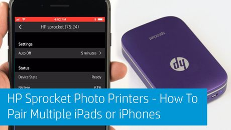 HP Sprocket Photo Printers - How To Pair Multiple iPads or iPhones
