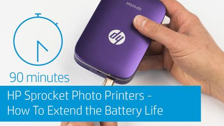 HP Sprocket Photo Printers - How To Extend the Battery Life
