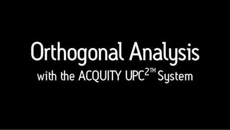 ACQUITY UPC2: Orthogonal Analysis