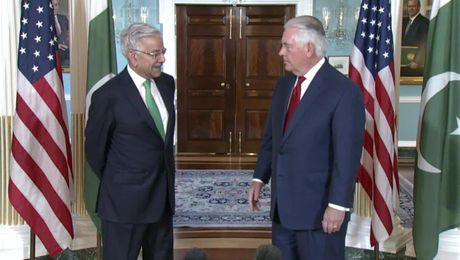 Secretary Tillerson Meets with Pakistani Foreign Minister Asif