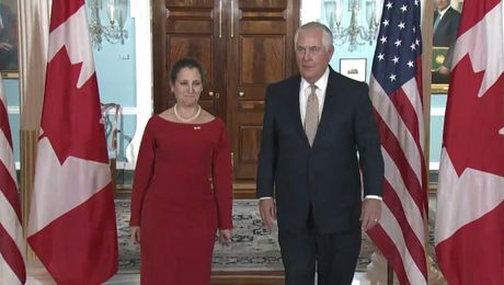 Secretary Meets with Canadian Foreign Minister Chrystia Freeland