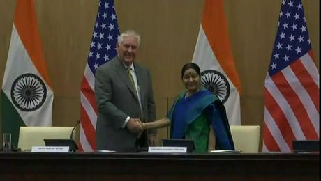 Secretary Tillerson Holds A Press Availability with Indian External Affairs Minister Swaraj