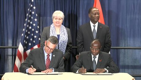 Signing of Millennium Challenge Corporation Compact with Republic of Côte d'Ivoire