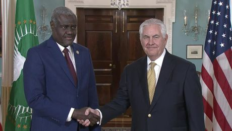 Secretary Tillerson Meets with African Union Chairperson Moussa Faki