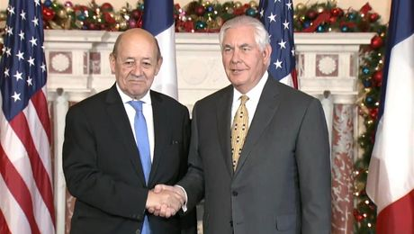 Secretary Tillerson Welcomes French Foreign Minister Le Drian