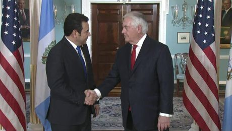 Secretary Tillerson Meets with Guatemalan President Morales