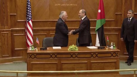 MOU Signing and Press Conference with Jordanian Foreign Minister Safadi