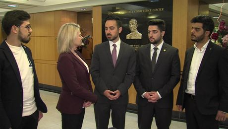 "Spokesperson Nauert Talks with ""Last Men in Aleppo"" Film Producers at Department of State"