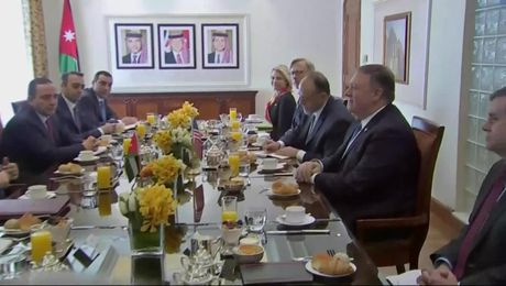 Secretary Pompeo Attends Working Breakfast with Jordanian Foreign Minister Safadi in Amman, Jordan
