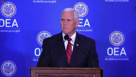 Vice President Pence Delivers Remarks During Protocolary Meeting at the OAS