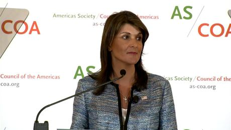 Ambassador Haley Delivers Remarks at the Conference on the Americas
