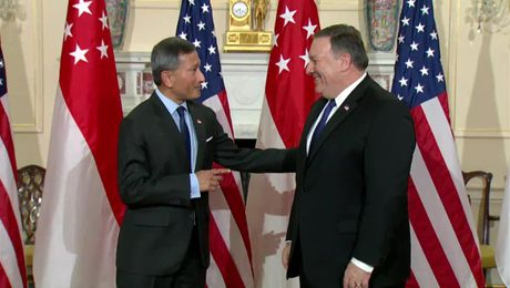 Secretary Pompeo Hosts Singaporean Foreign Minister Balakrishnan