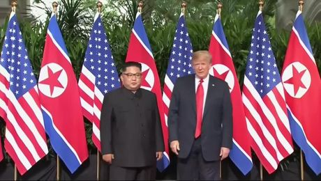 President Trump Meets North Korean Leader Kim Jong Un
