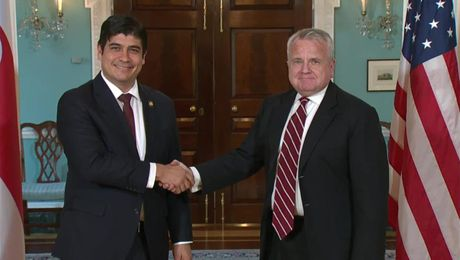 Deputy Secretary Sullivan Meets with President Alvarado of Costa Rica