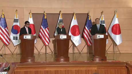 Opening Remarks by Secretary Pompeo with Republic of Korea and Japanese Foreign Ministers in Seoul