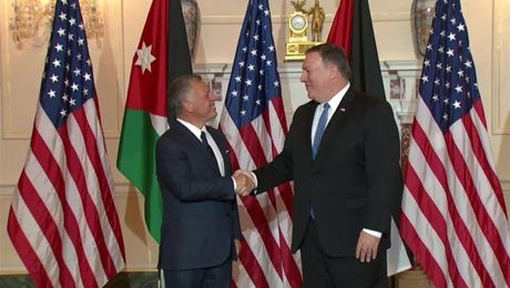 Secretary Pompeo Welcomes Jordanian King Abdullah II