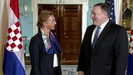 Secretary Pompeo Meets with Croatian Foreign Minister Marij Pejcinovic Buric