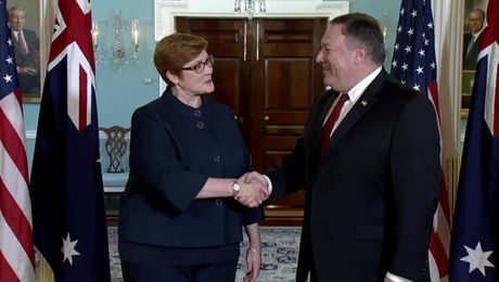 Secretary Pompeo Meets with Australian Foreign Minister Marise Payne