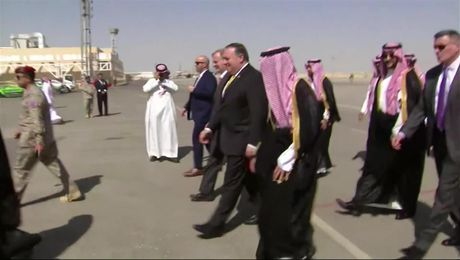 Secretary Pompeo Arrives in Saudi Arabia