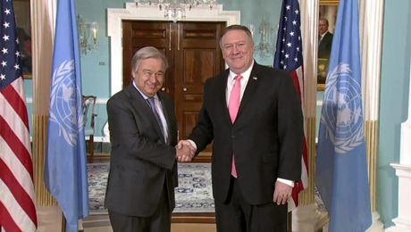 Secretary Pompeo Meets with UN Secretary-General Guterres