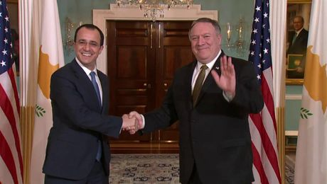 Secretary Pompeo Meets with Cypriot Foreign Minister Nikos Christodoulides