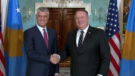 Secretary Pompeo Meets with President of the Republic of Kosovo Hashim Thaci