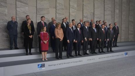 Secretary Pompeo Participates in the North Atlantic Council Family Photo, in Brussels