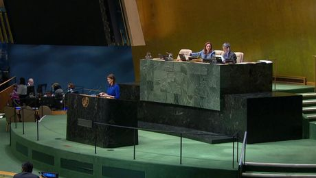 Remarks at a UN General Assembly Meeting on a U.S. Draft Resolution to Condemn Hamas Terrorism