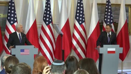 Joint Press Statement by Vice President Pence and Polish President Duda in Warsaw