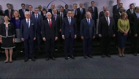 Family Photo with Heads of Delegation at Ministerial on the Middle East in Warsaw