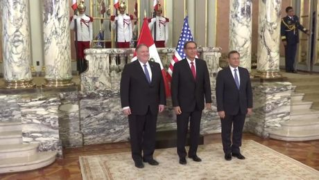 Secretary Pompeo Meets with Peruvian President Vizcarra and Foreign Minister Popolizio in Lima