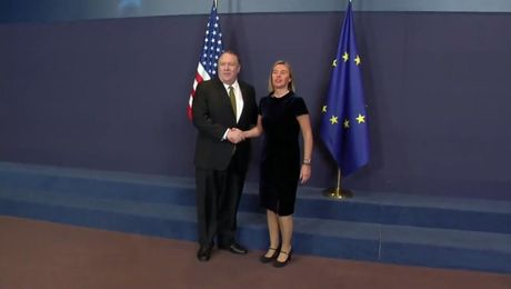Secretary Pompeo Meets with EU High Representative Mogherini