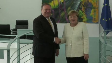 Secretary Pompeo Meets with German Chancellor Angela Merkel, in Berlin, Germany