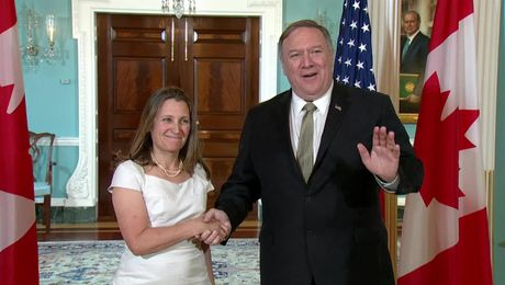 Secretary Pompeo Meets  with Canadian Foreign Minister Freeland